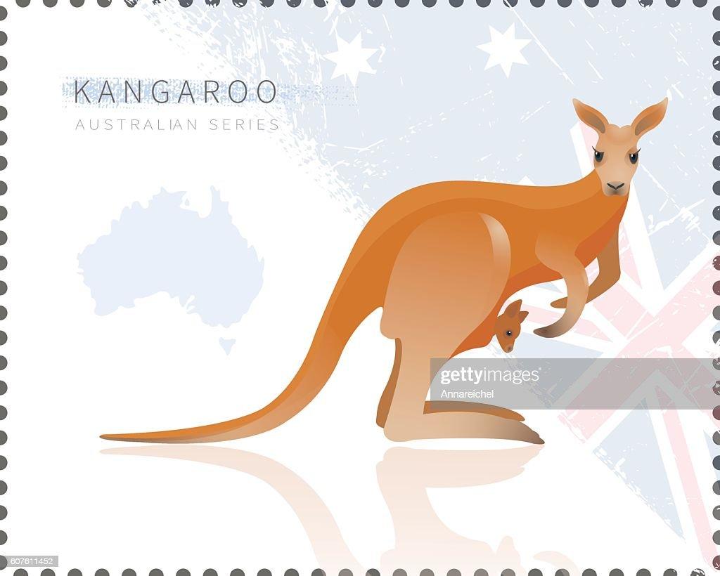 Vector illustration of Kangaroo