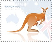 Vector illustration of Kangaroo