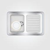 Vector illustration of kitchen sink
