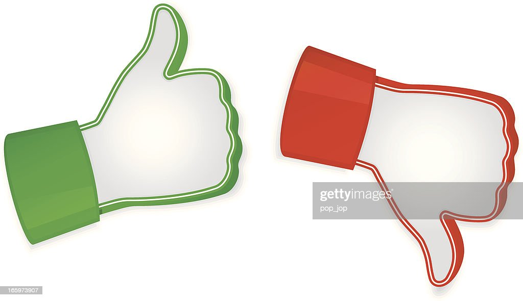 Vector illustration of like and unlike icons : stock illustration