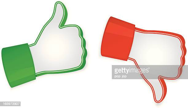 Vector illustration of like and unlike icons