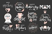 Vector illustration of logo set emblem for mother day greeting