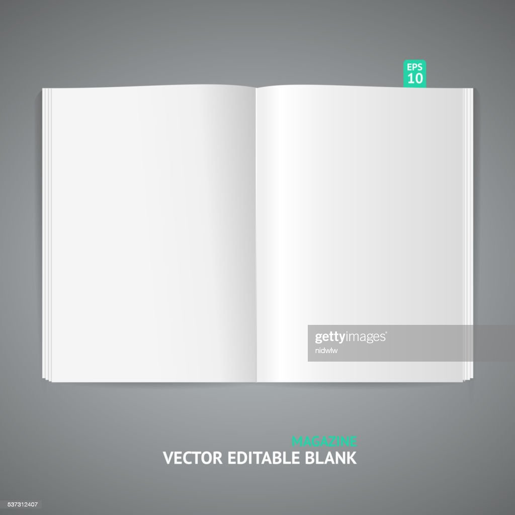 Vector illustration of magazine template