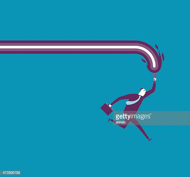 Vector illustration of man on the move