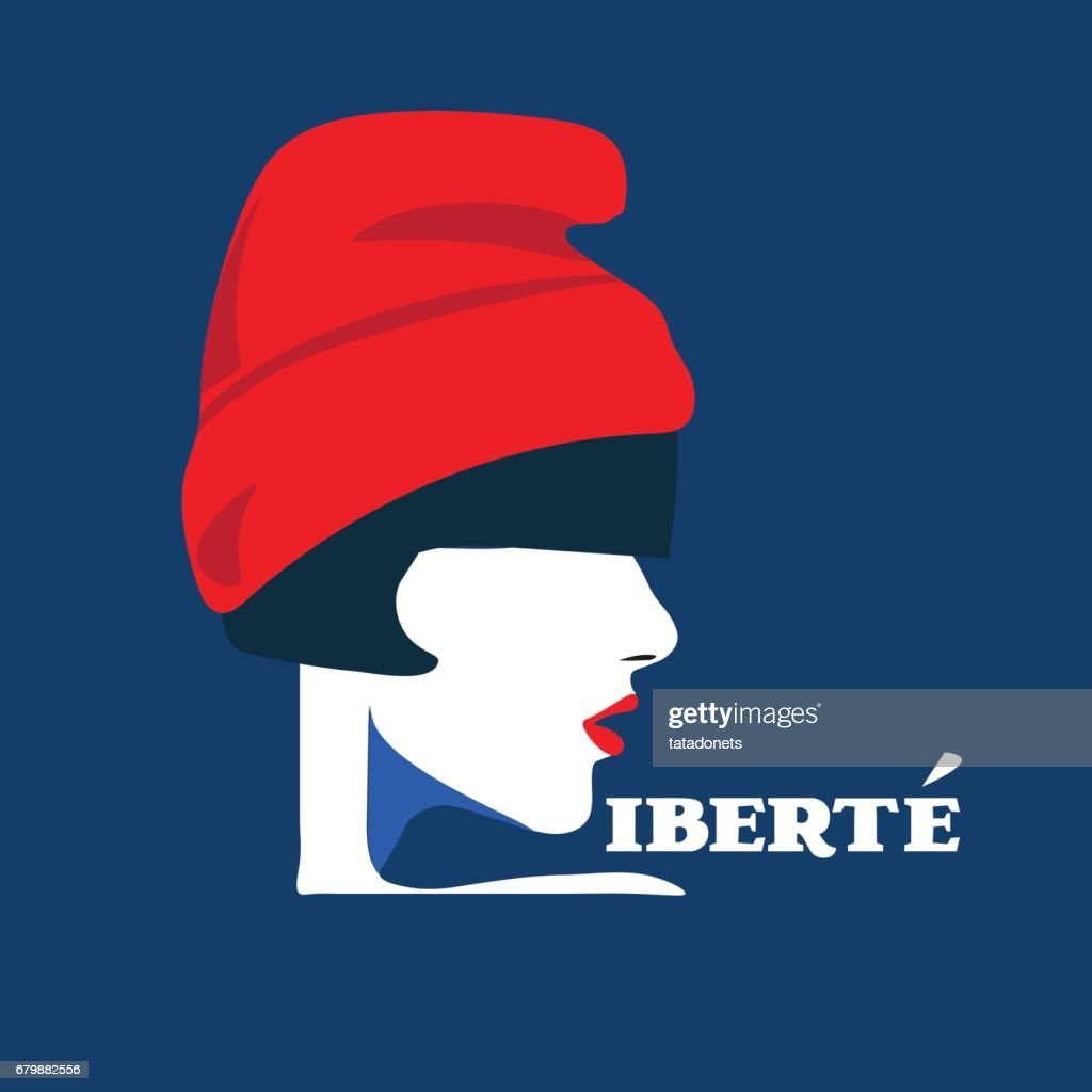 Vector Illustration Of Marianne National Symbol Of The French
