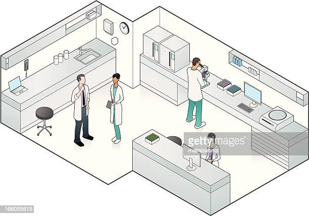 vector illustration of medical laboratory - mathisworks healthcare stock illustrations
