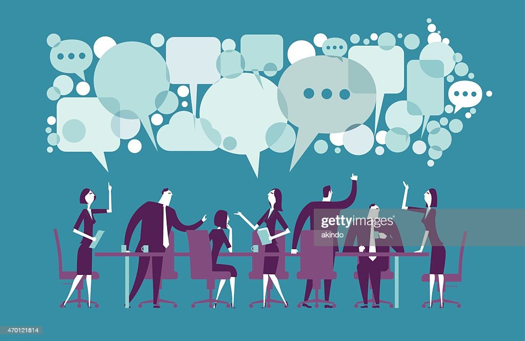 Vector illustration of meeting : stock vector