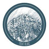 vector illustration of Mont Blanc