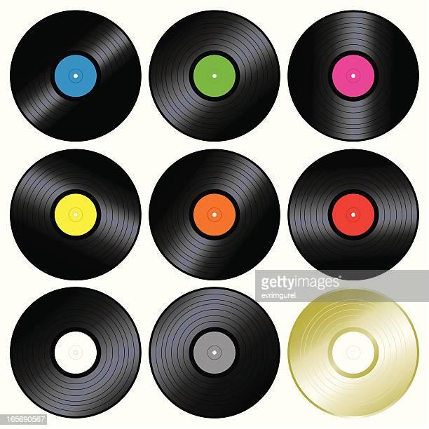 音楽ビニール記録 - 溝になった点のイラスト素材/クリップアート素材/マンガ素材/アイコン素材