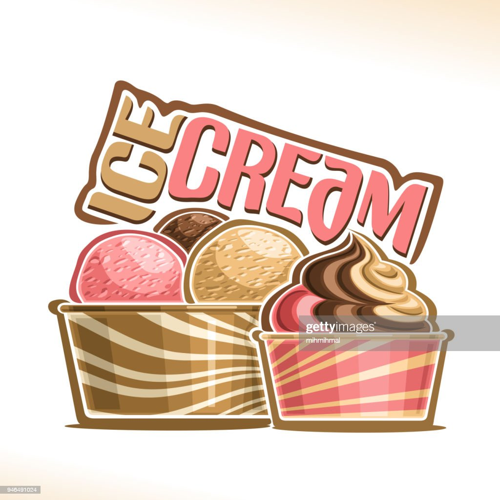 Vector illustration of natural Ice Cream