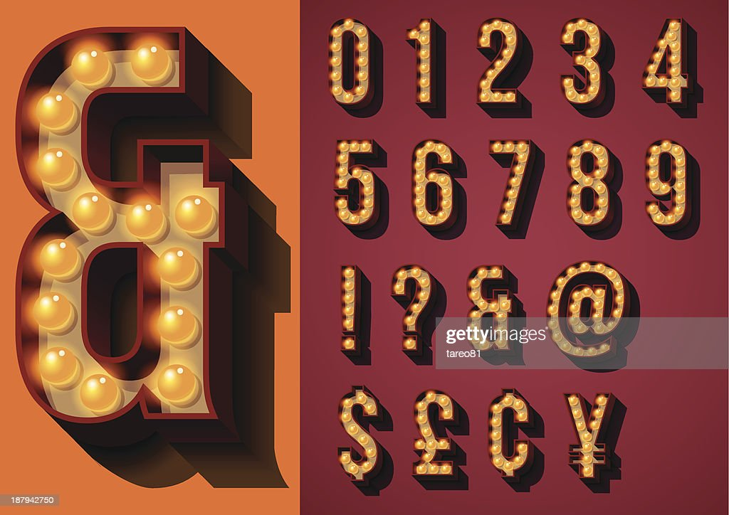 Vector illustration of neon sign types