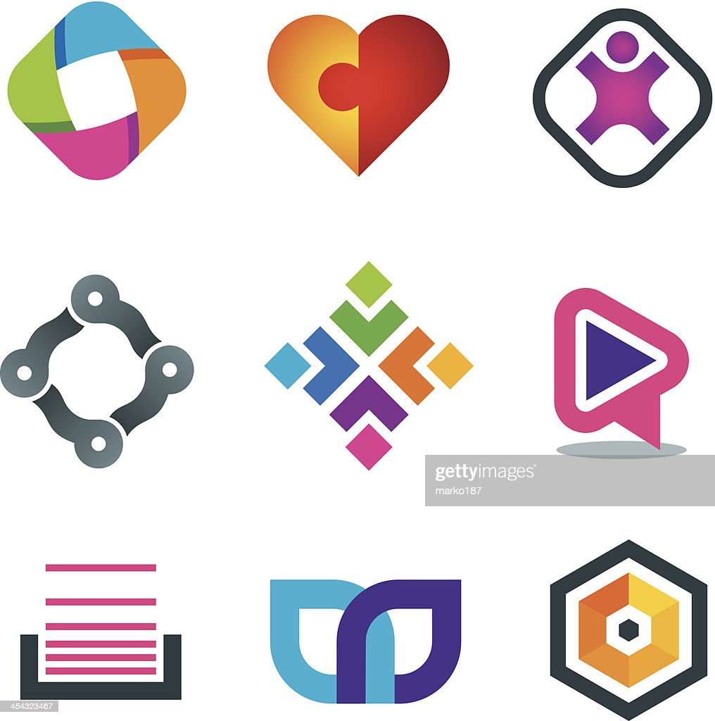 Vector illustration of network icons