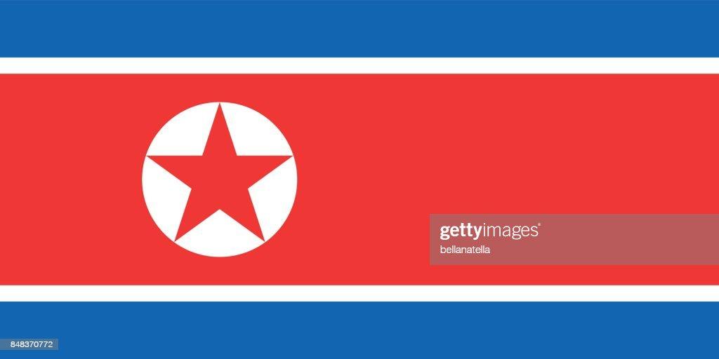 Vector illustration of North Korea flag.