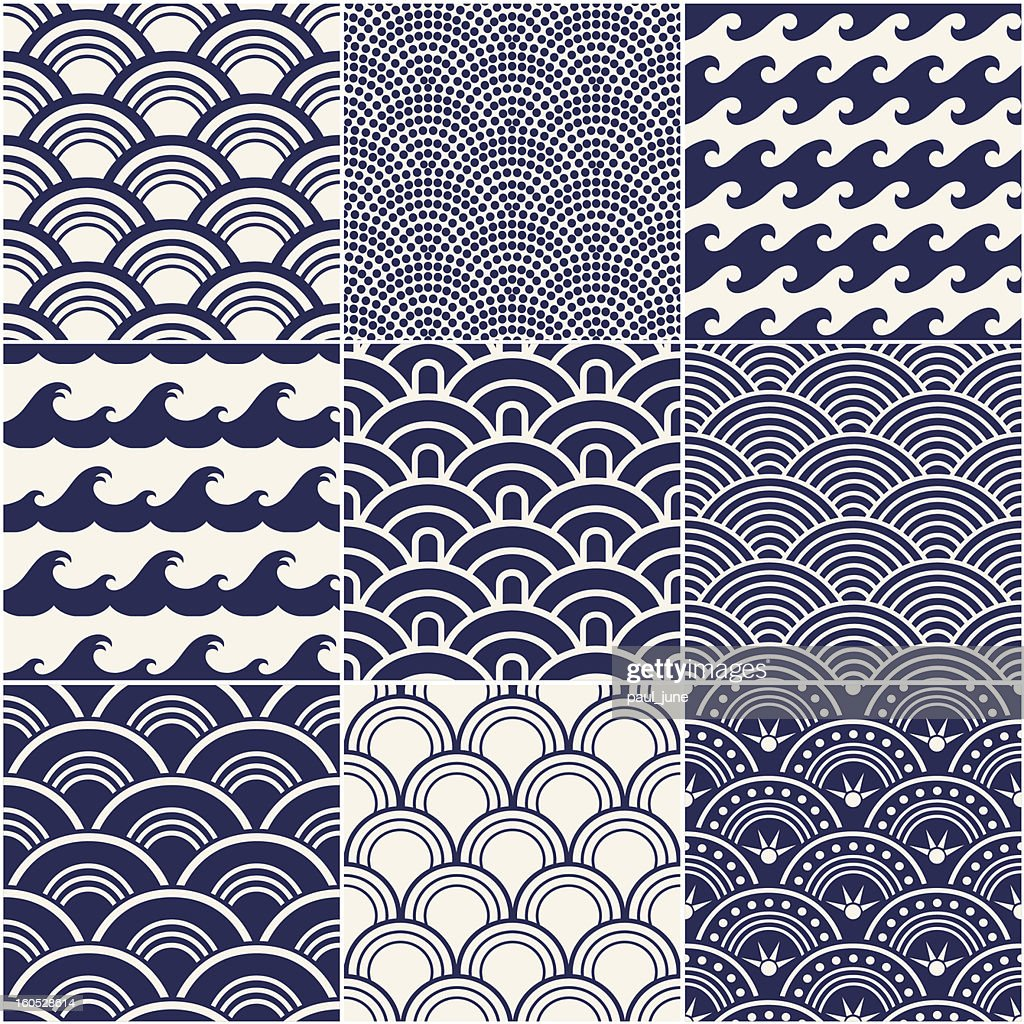 Vector illustration of ocean wave pattern