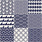 Vector illustration of ocean wave pattern