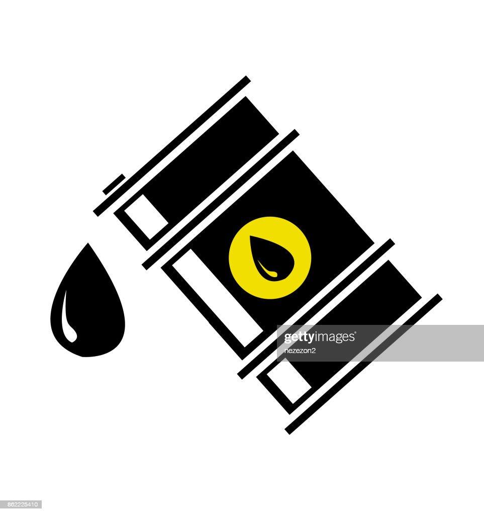 Vector illustration of oil barrel