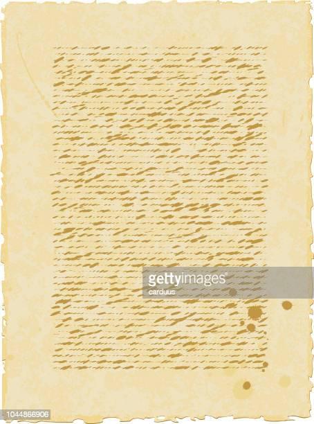 Vektor-Illustration der Calligraph Altpapier