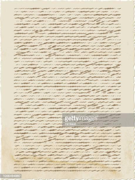 ilustrações, clipart, desenhos animados e ícones de ilustração em vetor de papel velho calligraph - responder