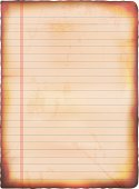 Vector illustration of old grunge lined paper