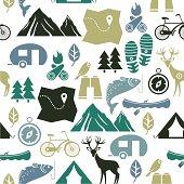Vector illustration of outdoor activities