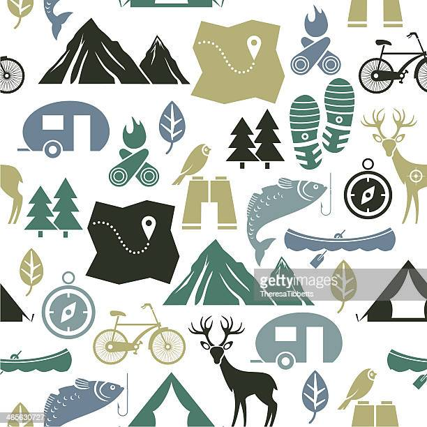 vector illustration of outdoor activities - outdoors stock illustrations