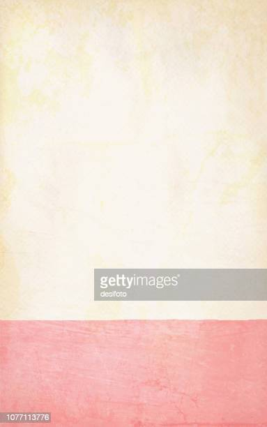 illustrations, cliparts, dessins animés et icônes de vector illustration of pale lumière jaune et rose rose clair grungy fond coloré - bicolore
