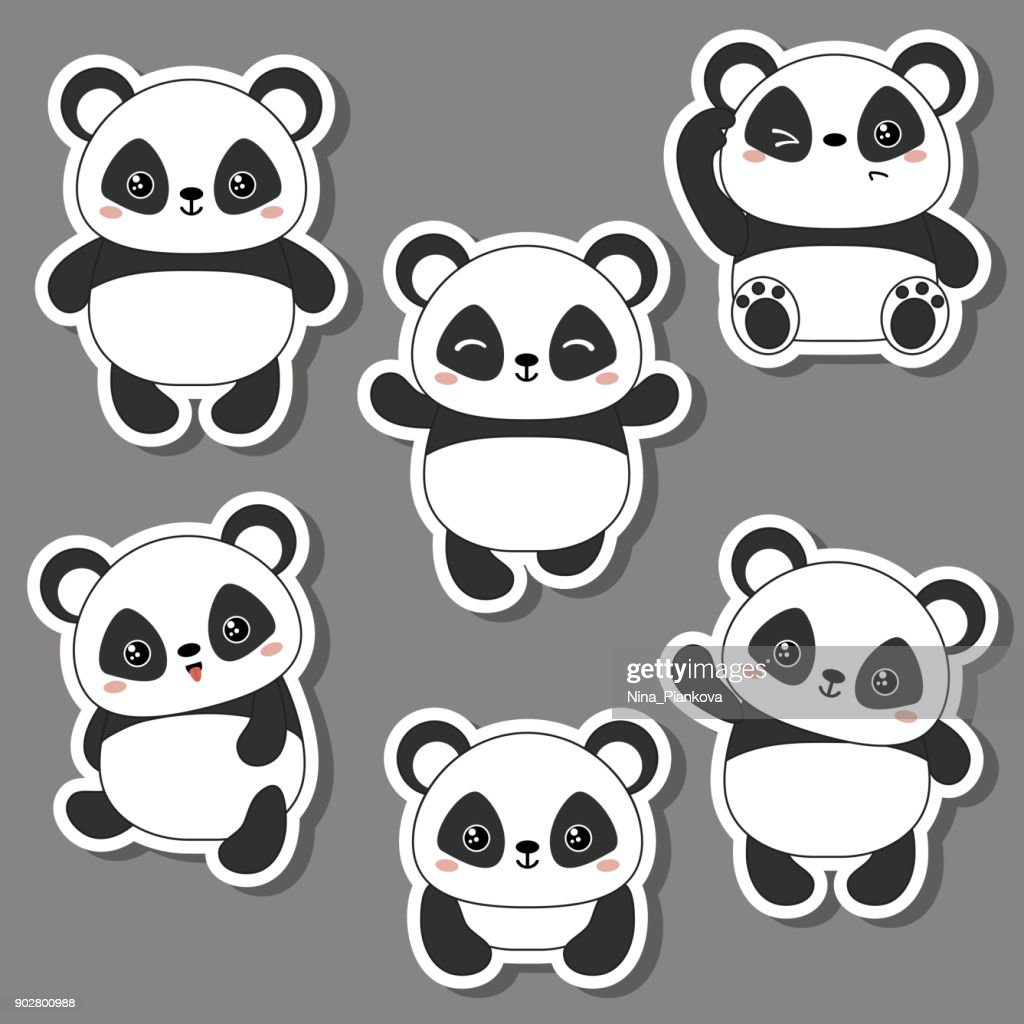 Vector illustration of panda bear.