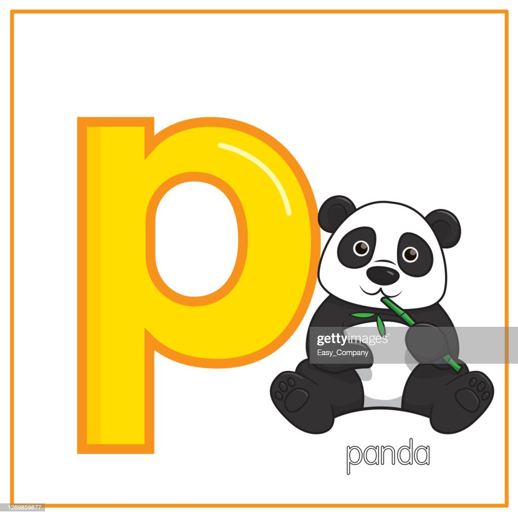 Vector Illustration Of Panda Isolated On A White Background With ...