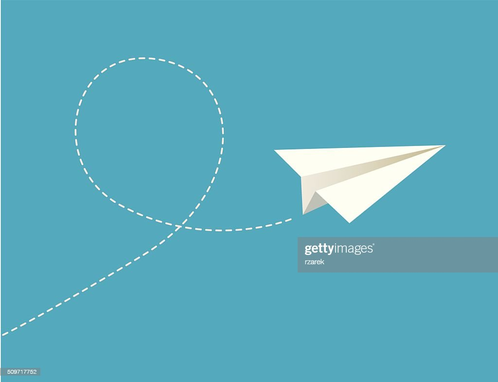 Vector illustration of paper plane.