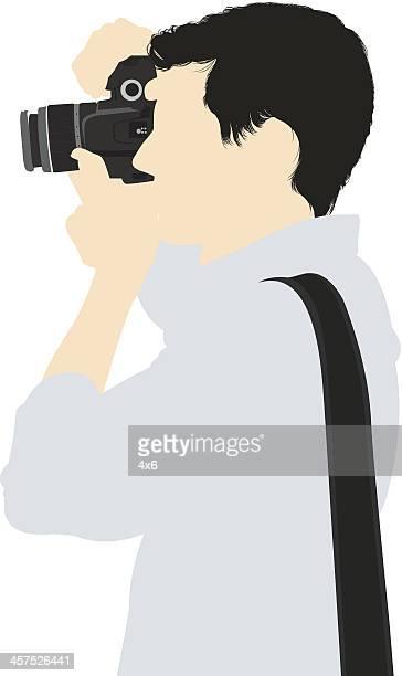 Vector illustration of photographer
