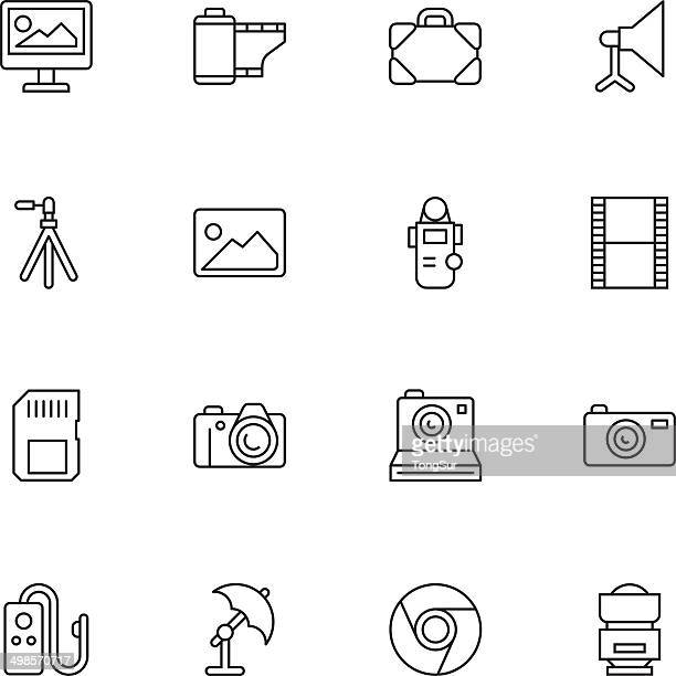 Vector illustration of photography icons