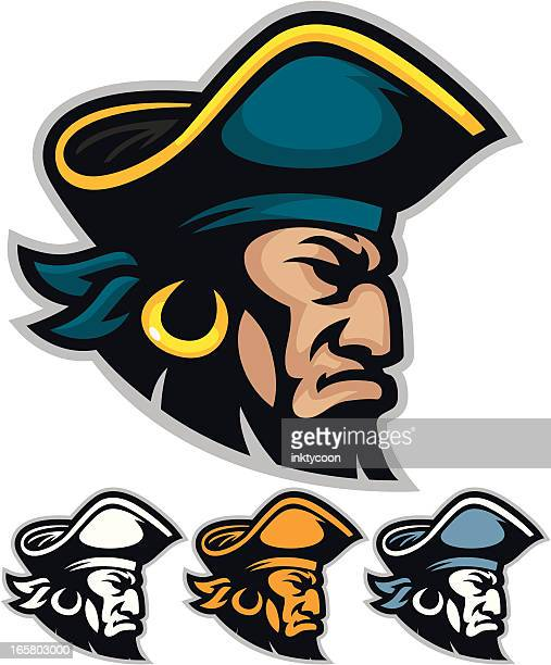 Vector illustration of pirate mascot heads
