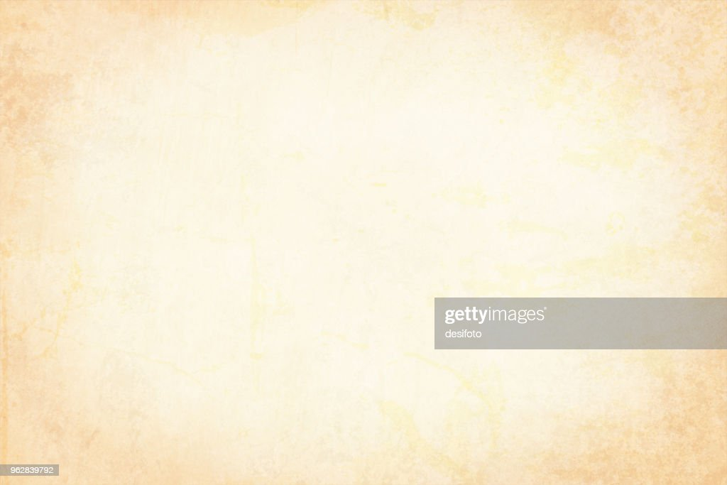 Vector Illustration of plain beige grungy background