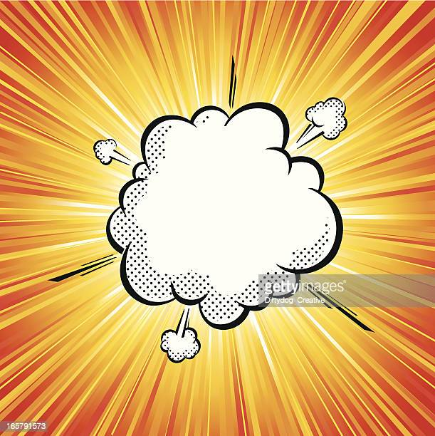 Vector illustration of pop art explosion cloud