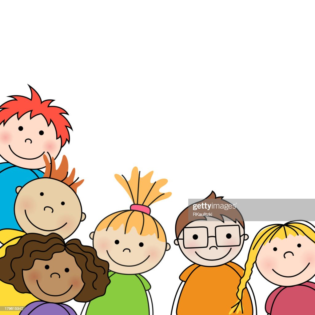 Vector illustration of preschool kids