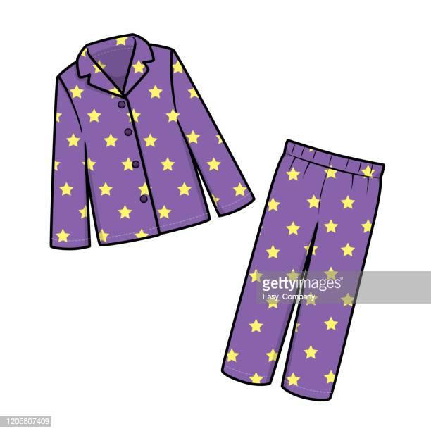 白い背景に分離されたパジャマのベクトルイラスト。 - パジャマ点のイラスト素材/クリップアート素材/マンガ素材/アイコン素材