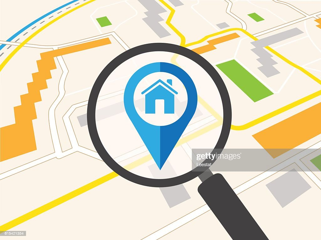 Vector illustration of real estate infographic pointing to the house.