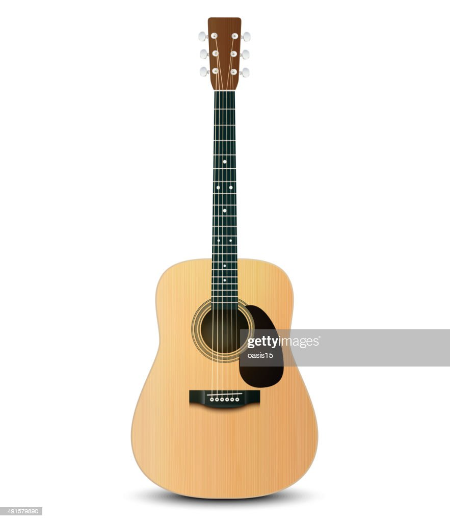 Vector Illustration Of Realistic Acoustic Guitar Vector Art Getty