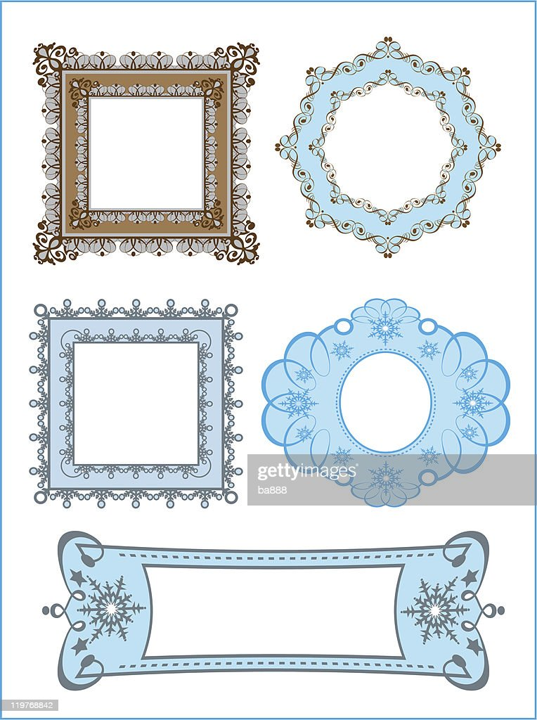 Vector Illustration Of Retro Frames And Scroll Vector Art | Getty Images