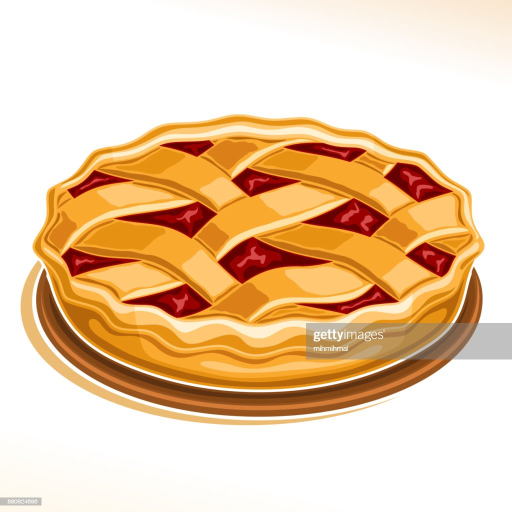 Vector illustration of Rhubarb Pie
