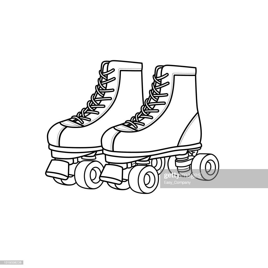 Vector Illustration Of Roller Skates Isolated On White Background