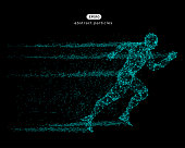 Vector illustration of running man.