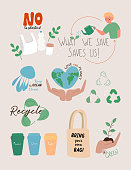 vector illustration save planet concept flat
