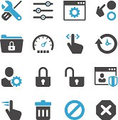 Vector illustration of settings icons