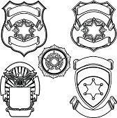 Vector illustration of sheriff badges