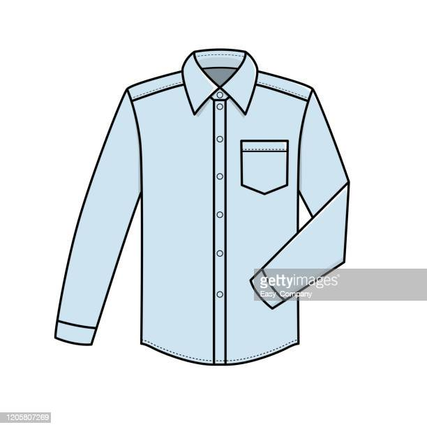 vector illustration of shirt isolated on white background. - exercise book stock illustrations