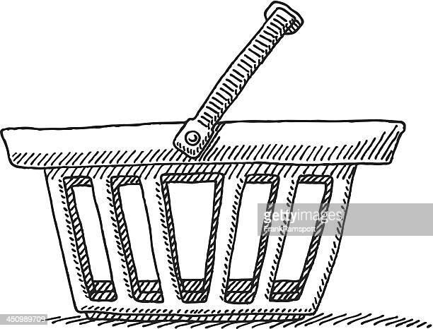 Vector illustration of shopping basket