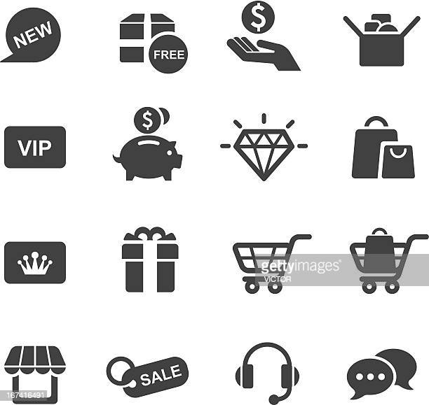 Vector illustration of shopping-themed icon set