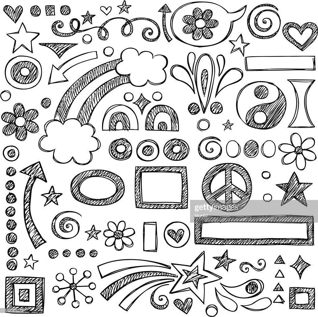 Vector illustration of sketchy doodles