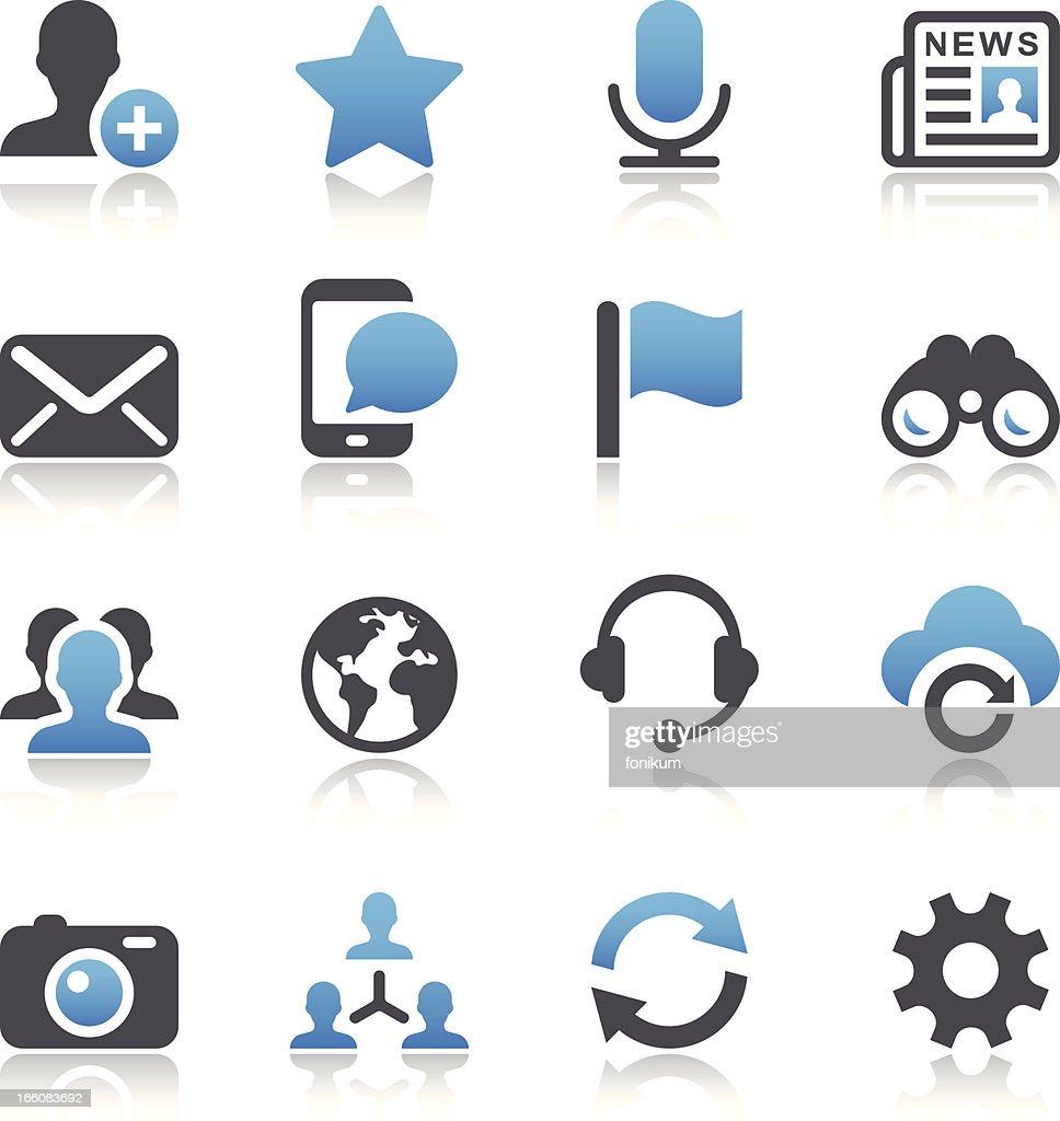 Vector illustration of social media icons